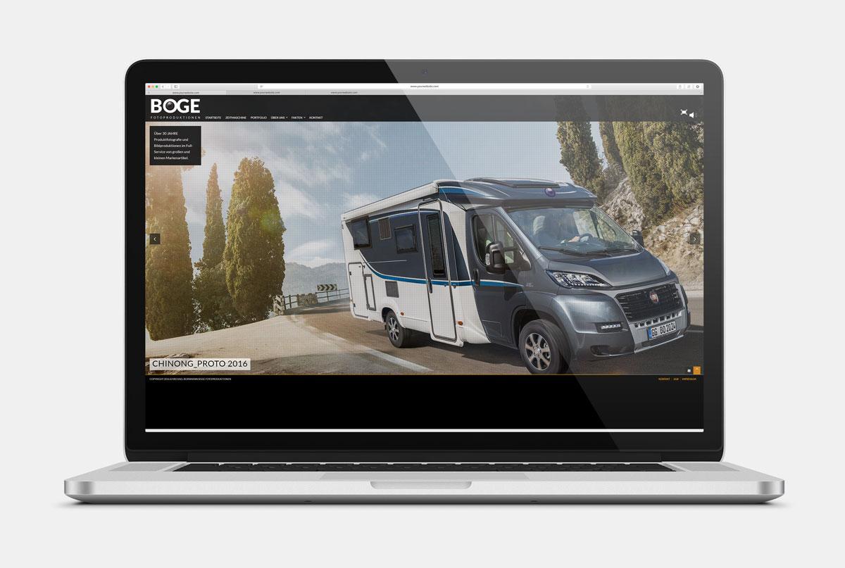 Homepage Boge Fotoproduktionen